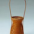 網代編みの花籠「雫」